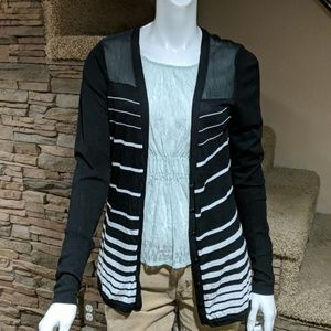 Calvin Klein striped cardigan size medium